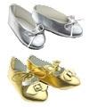 CD0009 Princess shoes set. Silver