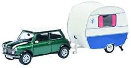 Mini Cooper mit Wohnanhänger 1:43 Sch24150
