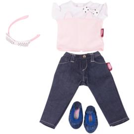 3-delige set shirt, broek, schoenen.(34 3317)