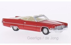 Cadillac DeVille Convertible. Rood 1:87  BOS87085