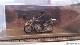 Kawasaki Z900 Motorcycle with sidecar