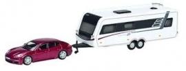Porsche Panamera + Caravan. 1:87 Sch25970