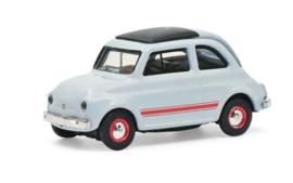 S26594 Fiat 500 Sport, blauw/grijs 1:87