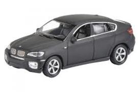 BMW X6 mat zwart 1:87 Sch28001