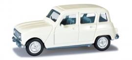 Renault 4 white. 1:87 H020190-002