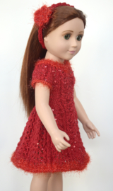 ERIN05 *Red Dress & Headband