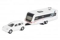 Porsche Cayenne + Hymer caravan. Sch25856