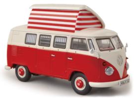 S03779 VW T1b Camper, rood/beige 1:43