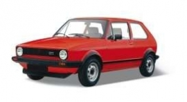 Welly18039r. Golf GTI, red   1:18