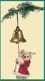 Steiff Ornament bear with clock EAN 037870