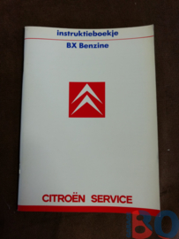 Instructieboekje Citroen BX Benzine 1987 Nieuw