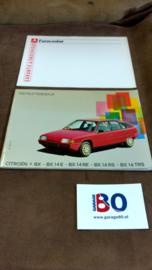 Instructieboekje voor een vroeg type 1 Citroen BX