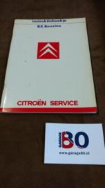 Instructieboekje Citroen BX Benzine 1987