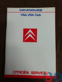 Instructieboekje Citroen Visa Club 1986