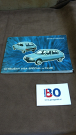Instructieboekje Citroen Visa Club en Special type 1