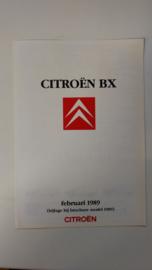 Bijlage BX folder februari 1989