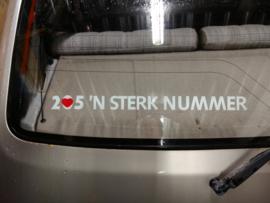 Sticker 205 'n sterk nummer