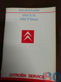Instructieboekje Citroen Visa benzine diesel 1984