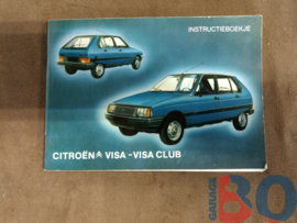 Instructieboekje Citroen Visa/ Visa Club 1984