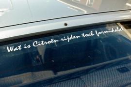 Wat is Citroen rijden toch formidabel