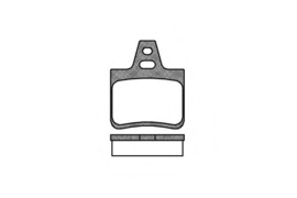 Brake Pad Set rear, disc brake Ferodo 95667788