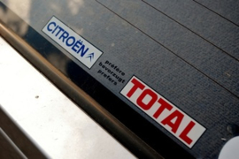 Citroen prefereert Total sticker lang