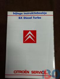Instructieboekje bijlage BX turbo diesel 1988