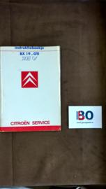 Instructieboekje Citroen BX 19-GTI of 16V