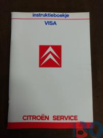 Instructieboekje Citroen Visa 1987