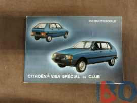 Instructieboekje Citroen Visa 2 Speciale en Club 1981