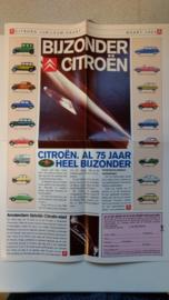 Bijzonder Citroen 75 jaar jubileum krant