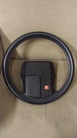 Steering wheel BX black red badge