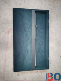Parcel shelf black with rollo