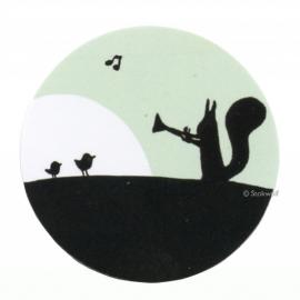 Sluitzegels fanfare (25 st, groen)