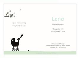 geboortekaartje | Berkenboompjes lente (mint)