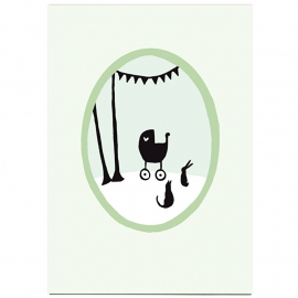 postkaart 'Berkenboompjes'