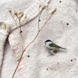 mini broche vogel | Glanskop