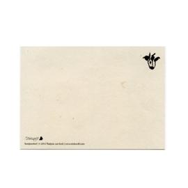 postcard 'Rabbit hole'