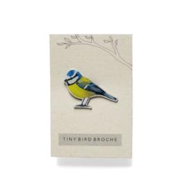 mini broche vogel    Pimpelmees