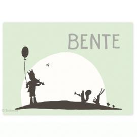 geboortekaartje | Fanfare  (mint)