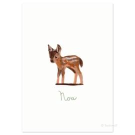 Birth card 'Little deer'