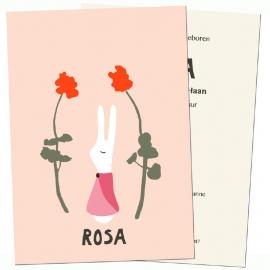 birth card 'Rabbit girl'