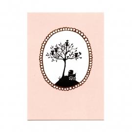 postkaart 'Vogelhuisjesboom'