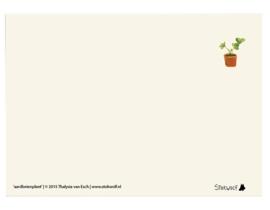 postkaart 'Aardbeienplant'