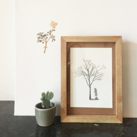 mini print | Tree with berries