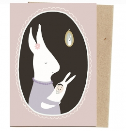 postkaart 'Konijnenkindje'