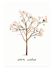 Christmas card | tree of birds