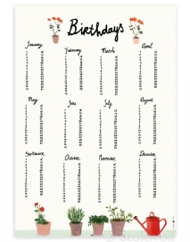 birthday print | Flowerpot