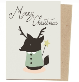Christmas card 'Christmas fox' medium