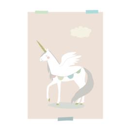 print | Eenhoorn (roze)